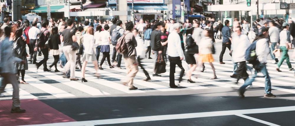 渋谷の人ごみ