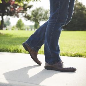 デニム革靴アイコン